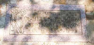 CHICK, HELEN F M - Marion County, Oregon | HELEN F M CHICK - Oregon Gravestone Photos