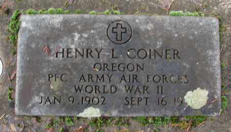 COINER (WWII), HENRY L - Marion County, Oregon   HENRY L COINER (WWII) - Oregon Gravestone Photos
