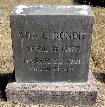 CONDIT, ADA LILLIAN - Marion County, Oregon | ADA LILLIAN CONDIT - Oregon Gravestone Photos