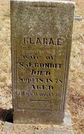 CONDIT, CLARA E - Marion County, Oregon | CLARA E CONDIT - Oregon Gravestone Photos