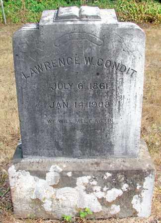 CONDIT, LAWRENCE W - Marion County, Oregon   LAWRENCE W CONDIT - Oregon Gravestone Photos