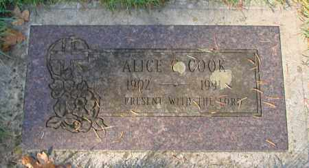 COOK, ALICE C - Marion County, Oregon | ALICE C COOK - Oregon Gravestone Photos