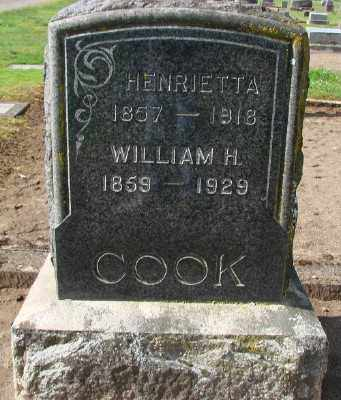 COOK, HENRIETTA - Marion County, Oregon | HENRIETTA COOK - Oregon Gravestone Photos