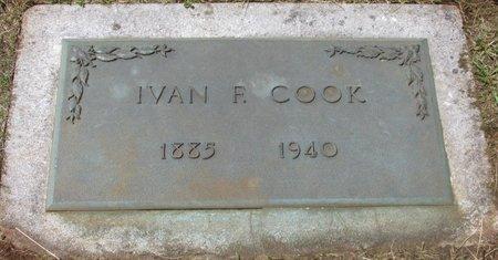 COOK, IVAN F - Marion County, Oregon | IVAN F COOK - Oregon Gravestone Photos