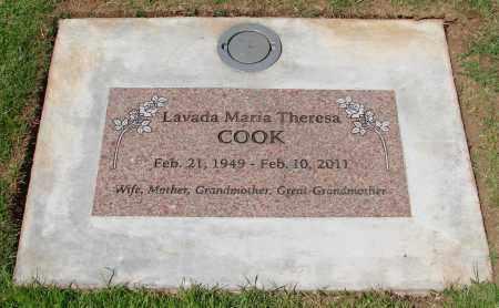 COOK, LAVADA MARIA THERESA - Marion County, Oregon | LAVADA MARIA THERESA COOK - Oregon Gravestone Photos