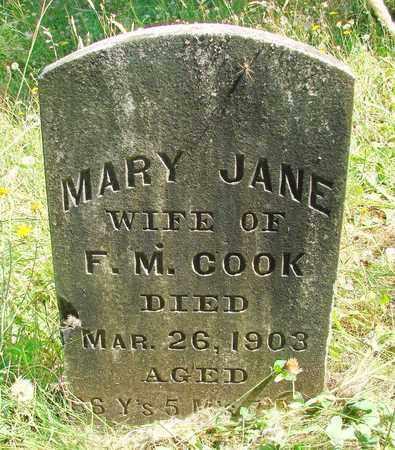 EDGAR COOK, MARY JANE - Marion County, Oregon | MARY JANE EDGAR COOK - Oregon Gravestone Photos