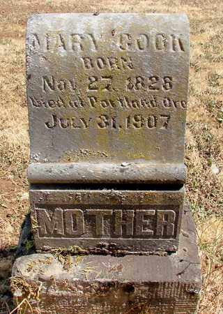 COOK, MARY - Marion County, Oregon | MARY COOK - Oregon Gravestone Photos