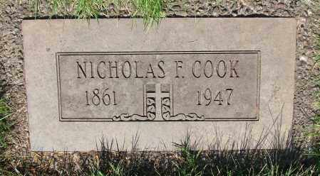 COOK, NICHOLAS F - Marion County, Oregon | NICHOLAS F COOK - Oregon Gravestone Photos