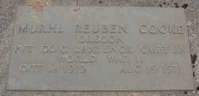 COOKE, MURHL REUBEN - Marion County, Oregon | MURHL REUBEN COOKE - Oregon Gravestone Photos