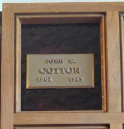 COTTON, JOHN MAX - Marion County, Oregon   JOHN MAX COTTON - Oregon Gravestone Photos