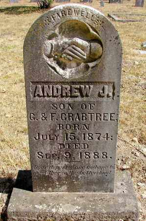 CRABTREE, ANDREW J - Marion County, Oregon | ANDREW J CRABTREE - Oregon Gravestone Photos