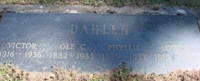 DAHLEN, LUCILE - Marion County, Oregon   LUCILE DAHLEN - Oregon Gravestone Photos