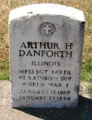 DANFORTH (WWI), ARTHUR H - Marion County, Oregon   ARTHUR H DANFORTH (WWI) - Oregon Gravestone Photos