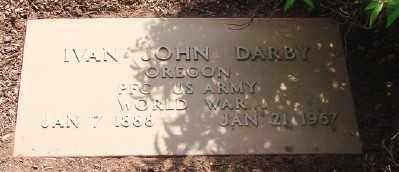 DARBY, IVAN JOHN - Marion County, Oregon | IVAN JOHN DARBY - Oregon Gravestone Photos