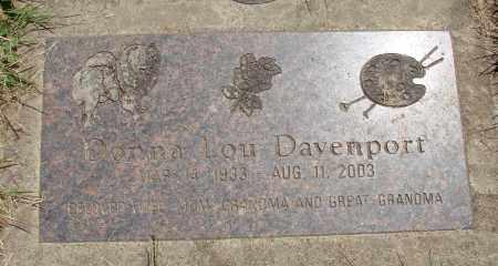 DAVENPORT, DONNA LOU - Marion County, Oregon | DONNA LOU DAVENPORT - Oregon Gravestone Photos