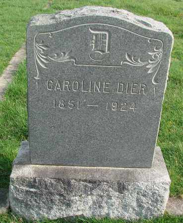 DIER, CAROLINE - Marion County, Oregon | CAROLINE DIER - Oregon Gravestone Photos