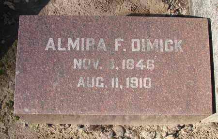DIMICK, ALMIRA FRANCES - Marion County, Oregon | ALMIRA FRANCES DIMICK - Oregon Gravestone Photos