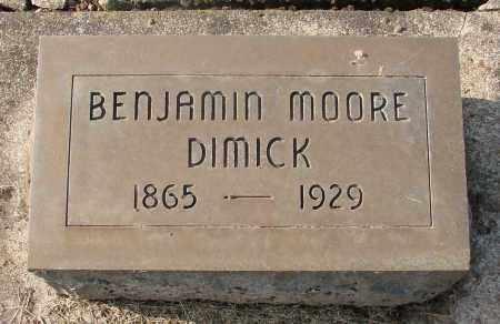 DIMICK, BENJAMIN MOORE - Marion County, Oregon   BENJAMIN MOORE DIMICK - Oregon Gravestone Photos