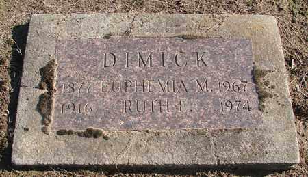 DIMICK, EUPHEMIA - Marion County, Oregon | EUPHEMIA DIMICK - Oregon Gravestone Photos