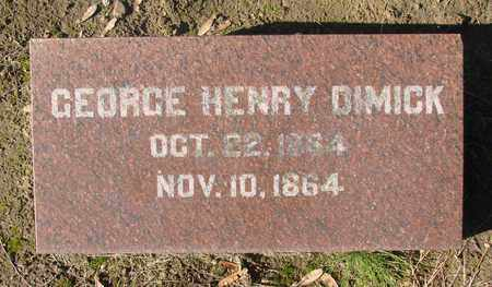 DIMICK, GEORGE HENRY - Marion County, Oregon | GEORGE HENRY DIMICK - Oregon Gravestone Photos