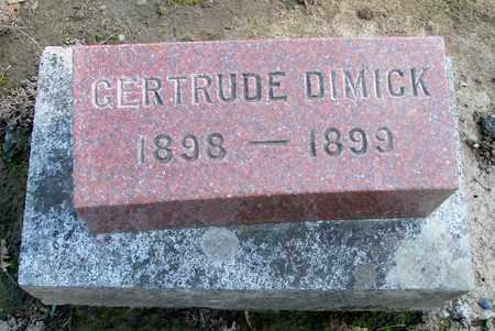 DIMICK, GERTRUDE - Marion County, Oregon | GERTRUDE DIMICK - Oregon Gravestone Photos