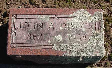 DIMICK, JOHN A - Marion County, Oregon | JOHN A DIMICK - Oregon Gravestone Photos