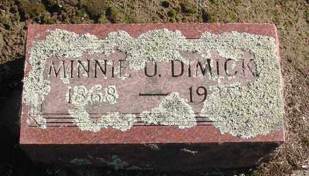 DIMICK, MINNIE O - Marion County, Oregon   MINNIE O DIMICK - Oregon Gravestone Photos
