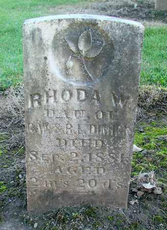 DIMICK, RHODA W - Marion County, Oregon | RHODA W DIMICK - Oregon Gravestone Photos