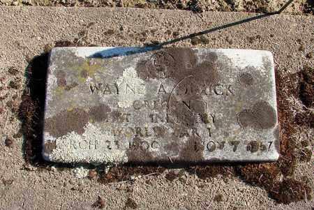 DIMICK, WAYNE AUGUSTUS - Marion County, Oregon | WAYNE AUGUSTUS DIMICK - Oregon Gravestone Photos