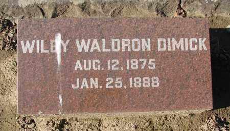 DIMICK, WILEY WALDRON - Marion County, Oregon   WILEY WALDRON DIMICK - Oregon Gravestone Photos