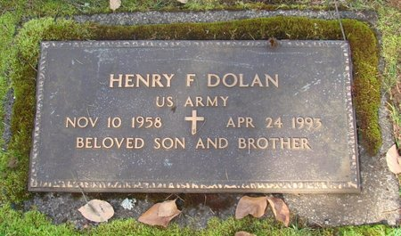 DOLAN, HENRY FRANCIS - Marion County, Oregon   HENRY FRANCIS DOLAN - Oregon Gravestone Photos