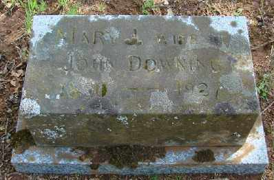 DOWNING, MARY JENNIE - Marion County, Oregon | MARY JENNIE DOWNING - Oregon Gravestone Photos