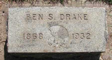 DRAKE, BEN S - Marion County, Oregon   BEN S DRAKE - Oregon Gravestone Photos