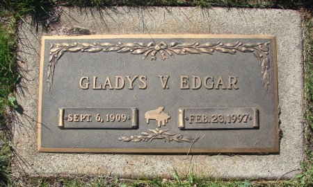 EDGAR, GLADYS VALENA - Marion County, Oregon | GLADYS VALENA EDGAR - Oregon Gravestone Photos