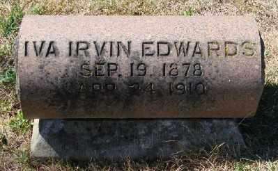 EDWARDS, IVA IRVIN - Marion County, Oregon | IVA IRVIN EDWARDS - Oregon Gravestone Photos