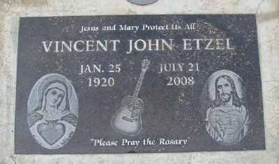 ETZEL, VINCENT JOHN - Marion County, Oregon | VINCENT JOHN ETZEL - Oregon Gravestone Photos
