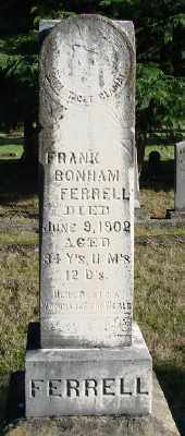 FERRELL, FRANK BONHAM - Marion County, Oregon   FRANK BONHAM FERRELL - Oregon Gravestone Photos
