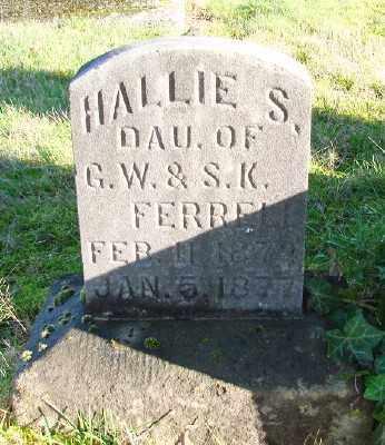 FERRELL, HALLIE S - Marion County, Oregon   HALLIE S FERRELL - Oregon Gravestone Photos