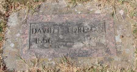 FOREMAN, DAVID H - Marion County, Oregon | DAVID H FOREMAN - Oregon Gravestone Photos