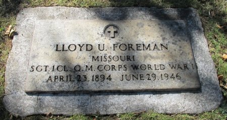 FOREMAN, LLOYD U - Marion County, Oregon | LLOYD U FOREMAN - Oregon Gravestone Photos