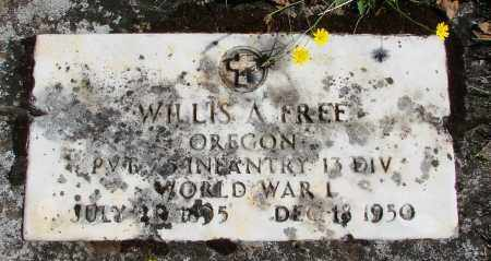FREE (WWI), WILLIS A - Marion County, Oregon | WILLIS A FREE (WWI) - Oregon Gravestone Photos