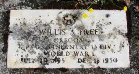 FREE (WWI), WILLIS A - Marion County, Oregon | WILLIS A FREE (WWI) - Oregon Gravestone Photos