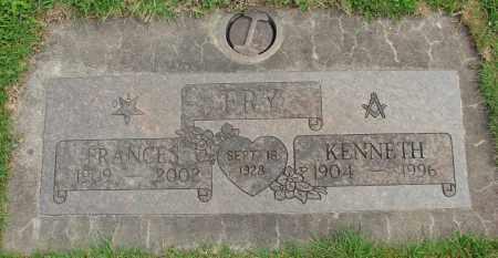 FRY, FRANCES MAE - Marion County, Oregon   FRANCES MAE FRY - Oregon Gravestone Photos
