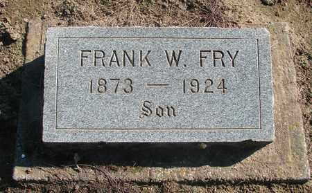 FRY, FRANK WILLIAM - Marion County, Oregon   FRANK WILLIAM FRY - Oregon Gravestone Photos