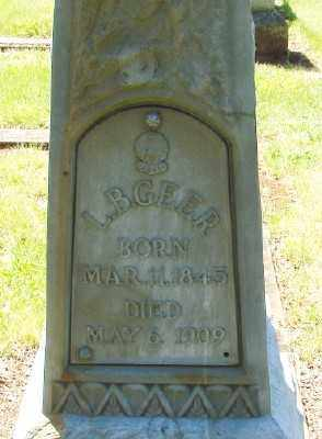 GEER, LEGRANGE BYINGTON - Marion County, Oregon | LEGRANGE BYINGTON GEER - Oregon Gravestone Photos
