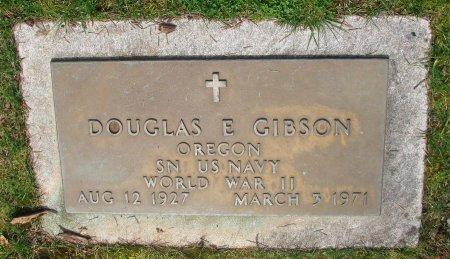 GIBSON, DOUGLAS E - Marion County, Oregon | DOUGLAS E GIBSON - Oregon Gravestone Photos