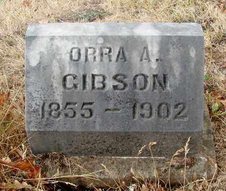 GIBSON, ORRA A - Marion County, Oregon | ORRA A GIBSON - Oregon Gravestone Photos