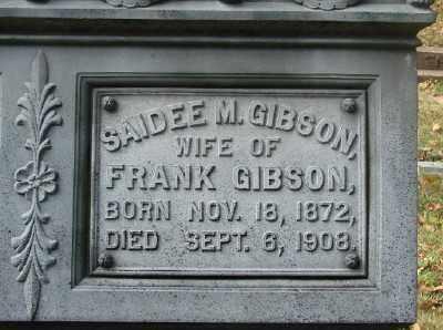 GIBSON, SAIDEE ANN - Marion County, Oregon | SAIDEE ANN GIBSON - Oregon Gravestone Photos