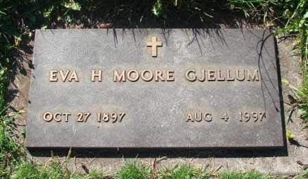 MOORE, EVA H - Marion County, Oregon | EVA H MOORE - Oregon Gravestone Photos