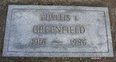 GREENFIELD, PHYLLIS I - Marion County, Oregon | PHYLLIS I GREENFIELD - Oregon Gravestone Photos